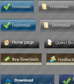 Template Menü Download Create Round 3d Buttons