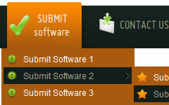 atahulapa submit button style Html Css Horizontal Menu With