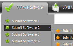Simple Java Script Menu Source Code Large Button Icons