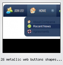26 Metallic Web Buttons Shapes Free