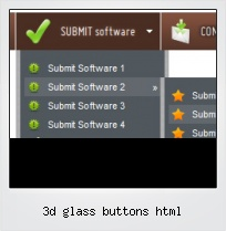 3d Glass Buttons Html