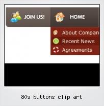 80s Buttons Clip Art