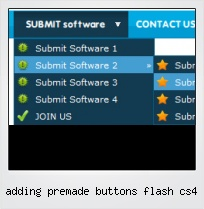 Adding Premade Buttons Flash Cs4
