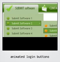 Animated Login Buttons