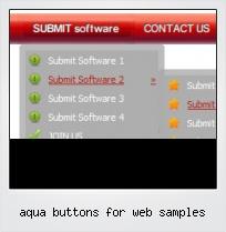 Aqua Buttons For Web Samples