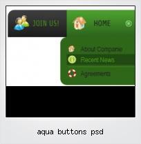Aqua Buttons Psd