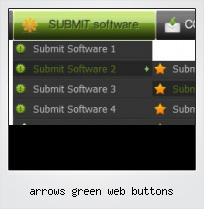 Arrows Green Web Buttons