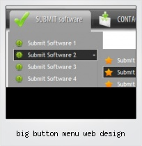 Big Button Menu Web Design