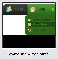 Common Web Button Sizes