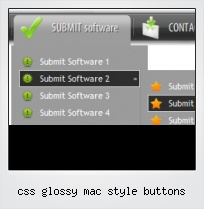 Css Glossy Mac Style Buttons