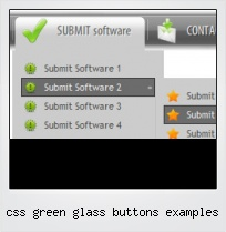 Css Green Glass Buttons Examples