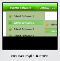 Css Mac Style Buttons
