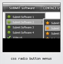 Css Radio Button Menus