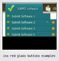 Css Red Glass Buttons Examples