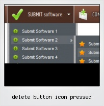 Delete Button Icon Pressed