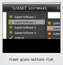 Flash Glass Buttons Flat