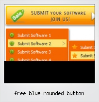 Free Blue Rounded Button