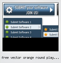 Free Vector Orange Round Play Button