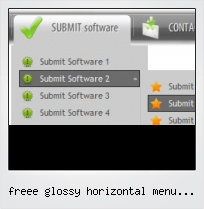 Freee Glossy Horizontal Menu Button