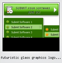 Futuristic Glass Graphics Logo Button