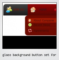 Glass Background Button Set For
