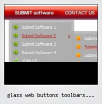 Glass Web Buttons Toolbars Backgrounds Menu