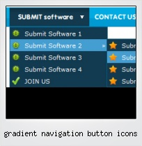 Gradient Navigation Button Icons