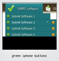 Green Iphone Buttons