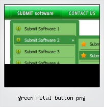 Green Metal Button Png