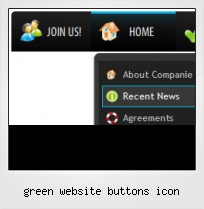 Green Website Buttons Icon