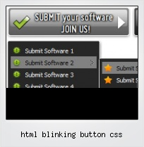 Html Blinking Button Css