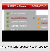 Html Buttons Orange Black Creator