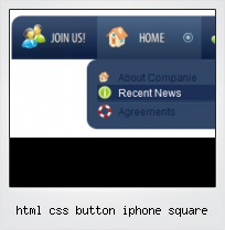 Html Css Button Iphone Square