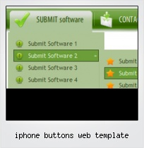 Iphone Buttons Web Template