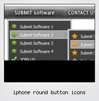 Iphone Round Button Icons