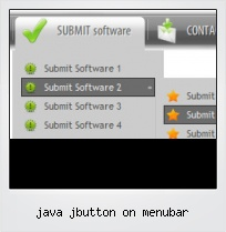 Java Jbutton On Menubar