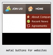Metal Buttons For Websites