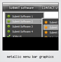 Metallic Menu Bar Graphics