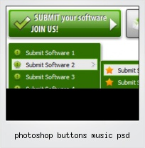 Photoshop Buttons Music Psd