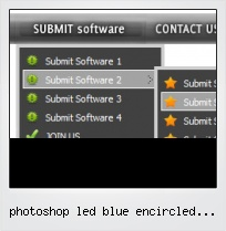 Photoshop Led Blue Encircled Button