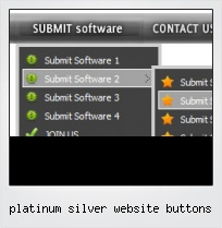 Platinum Silver Website Buttons