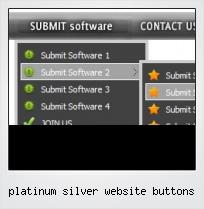 Platinum Silver Website Buttons