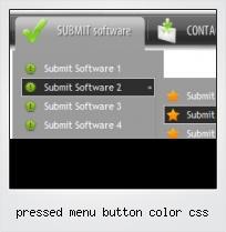 Pressed Menu Button Color Css
