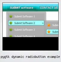 Pygtk Dynamic Radiobutton Example