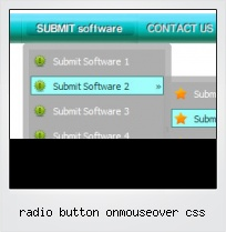 Radio Button Onmouseover Css