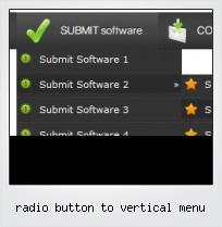 Radio Button To Vertical Menu