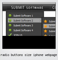 Radio Buttons Size Iphone Webpage