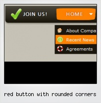 Red Button With Rounded Corners