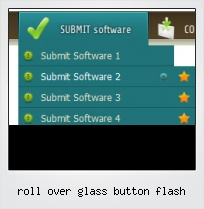 Roll Over Glass Button Flash