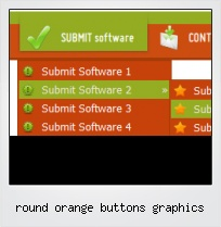 Round Orange Buttons Graphics